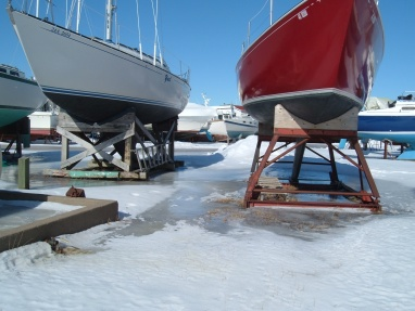 Picture of boats Stored for Winter